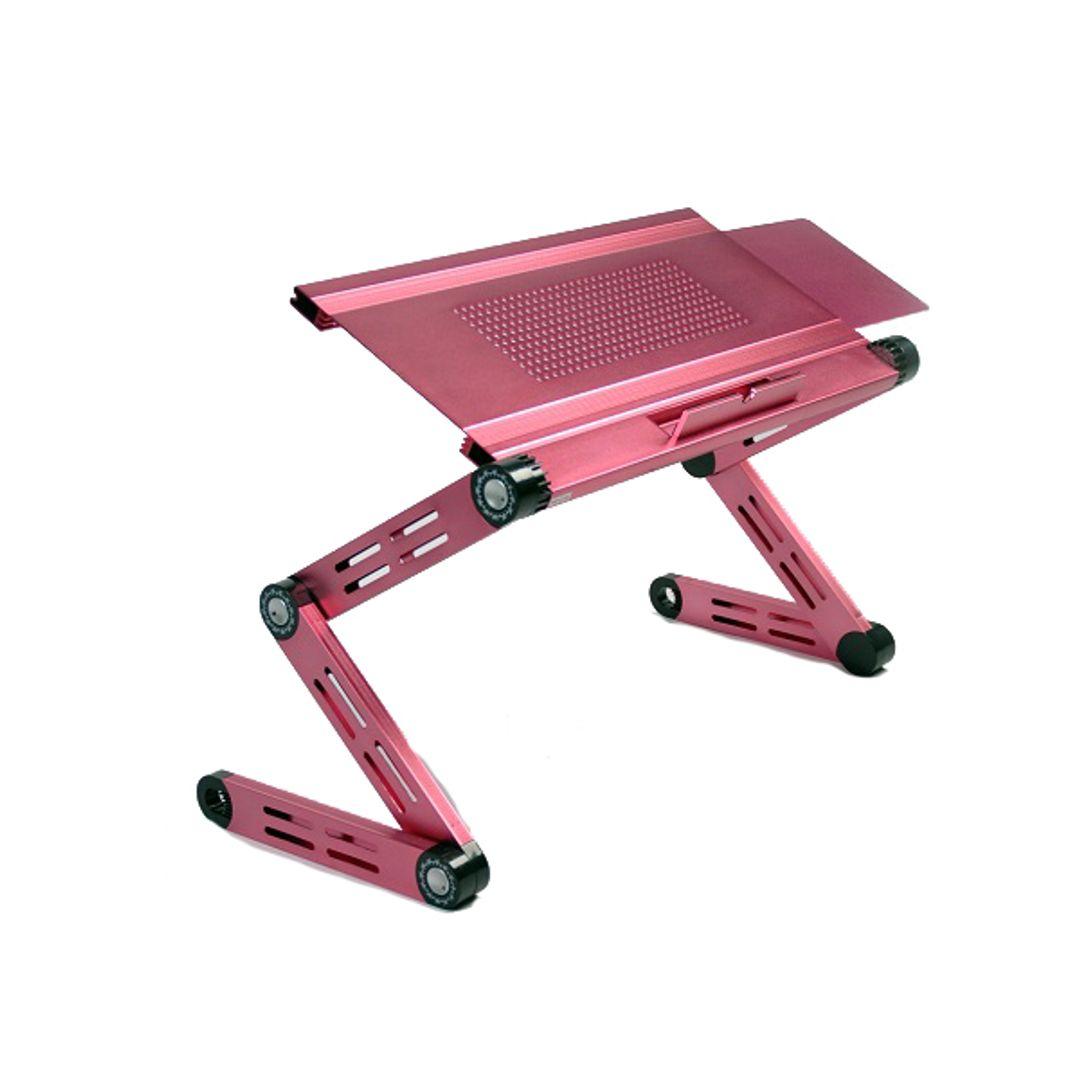 Портативный компьютерный стол Розовый