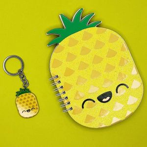 Блокнот+брелок Ананас Funny pineapple