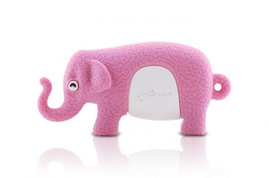 Флешка Слон Розовый 8 Гб
