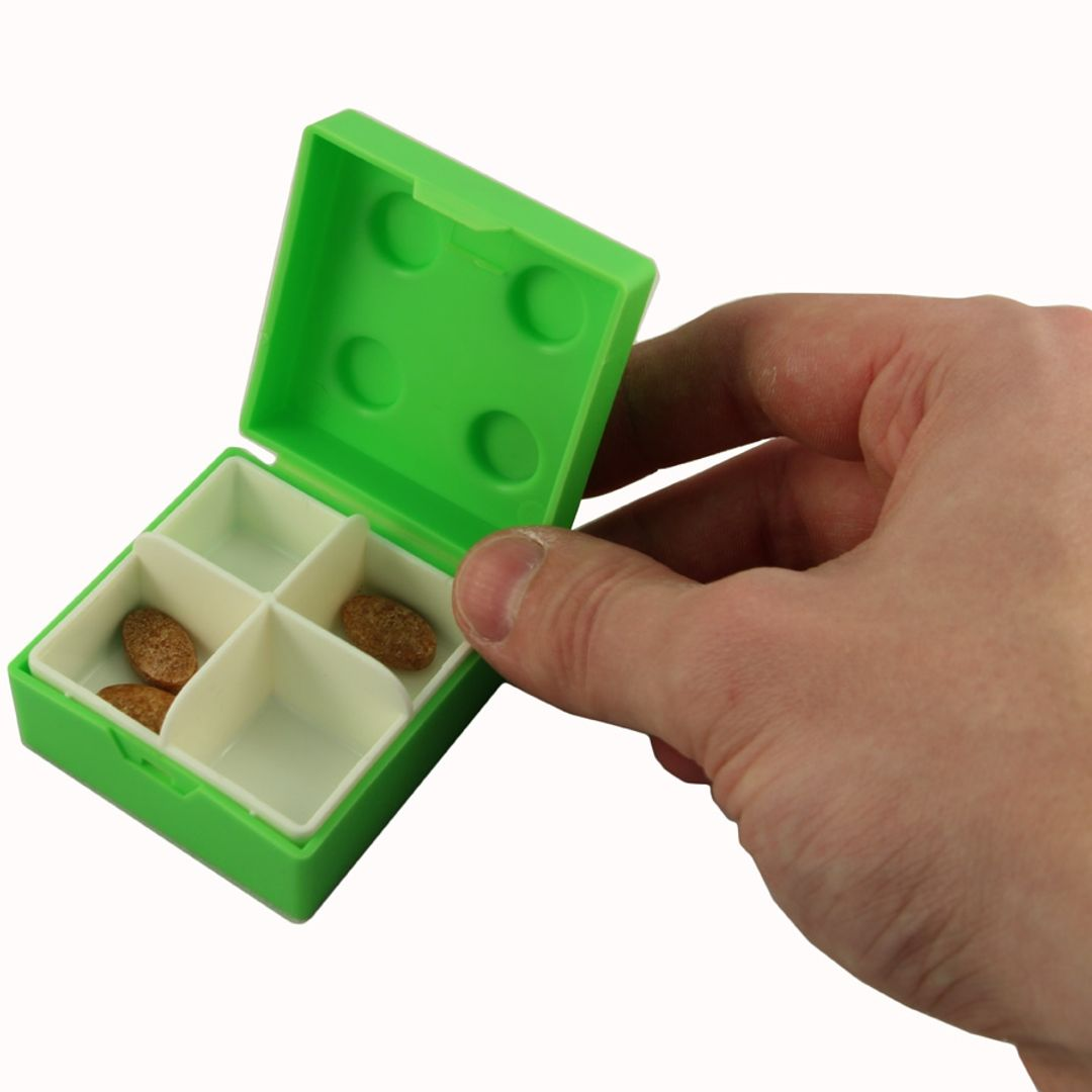 Таблетница Лего (Зеленая)