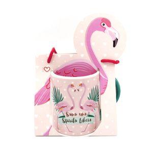 Кружка в подарочной упаковке Влюбленные фламинго