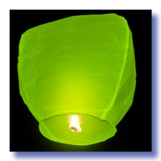 Летающий фонарик Зеленый