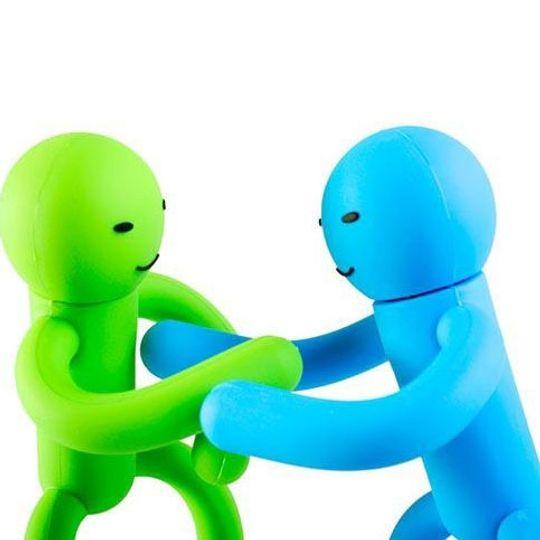 Флешка Человечек Антистресс 8 Гб (Зеленый, голубой)