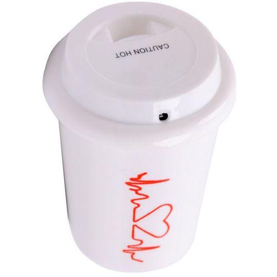 USB Увлажнитель воздуха Стакан с кофе (ЭКГ сердца)