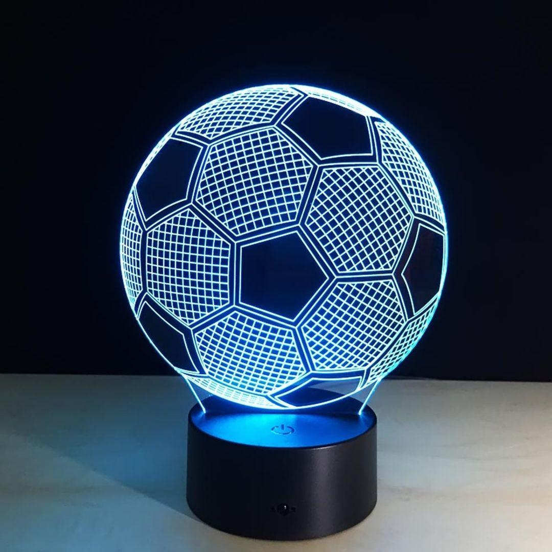 3D Лампа Футбольный мяч