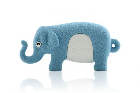Флешка Слон Голубой 8 Гб