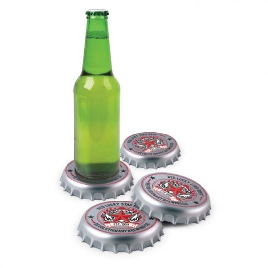 Подставки под напитки Бутылочные крышки (4 шт.)