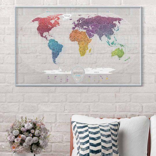 Скретч-карта мира Travel Map Air World (на английском)