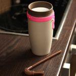Стакан Непроливайка с трубочкой Spin Cup (Розовый с коричневым) В открытом виде