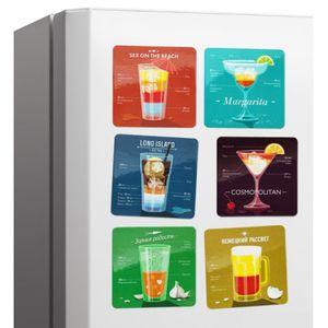 Набор магнитов на холодильник Коктейли Меломпо