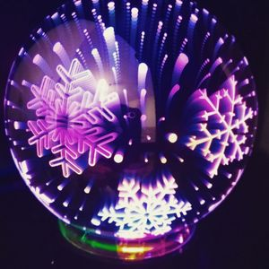 USB Ночник Магический шар Снежинки