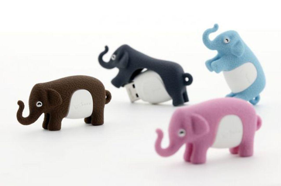 Флешка Слон Голубой 4 Гб