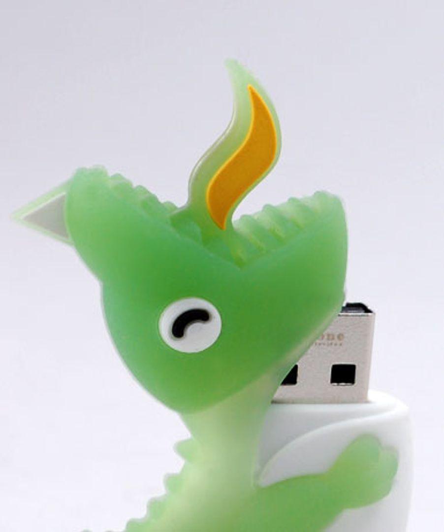 Флешка Динозавр Зеленый 8 Гб
