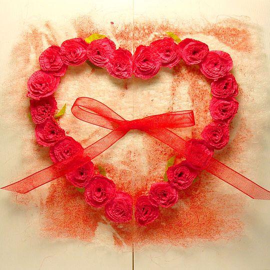 Открытка Сердце роз