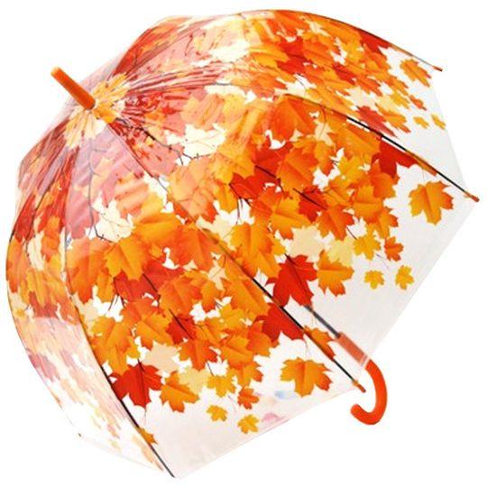Зонт Листья (Красный)