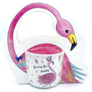Кружка в подарочной упаковке Фламинго