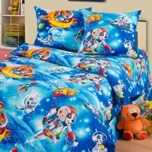 Детское постельное белье Дом снов Собачки в космосе (1,5 сп)