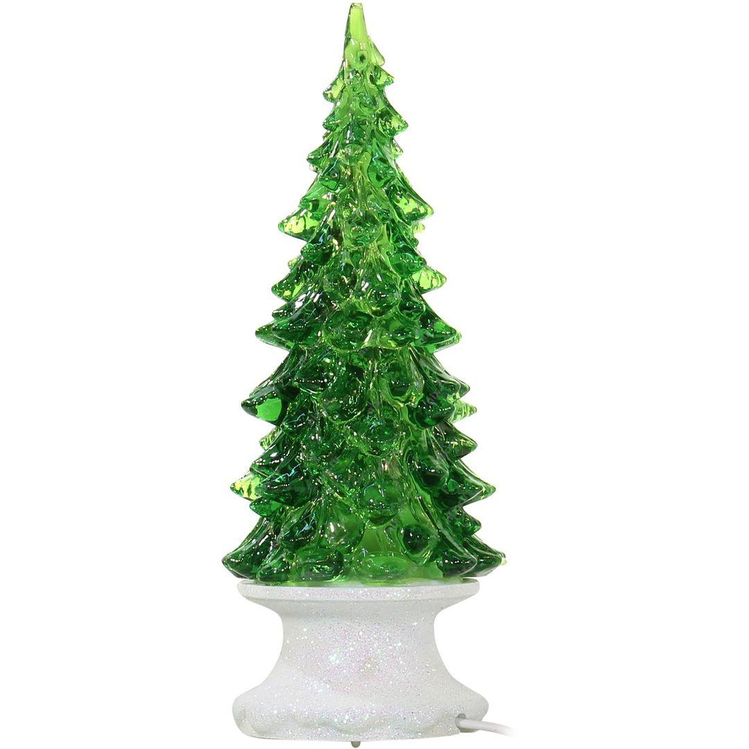 Светящаяся ледяная новогодняя елочка с музыкой