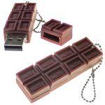 Флешка Шоколадка 16 Гб В открытом и закрытом виде