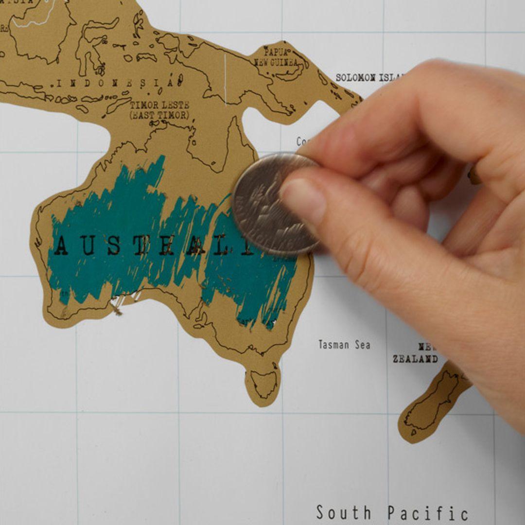 Скрэтч-карта мира (на английском)