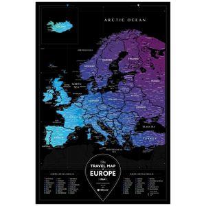 Скретч-карта Европы Travel Map Black Europe (на английском)