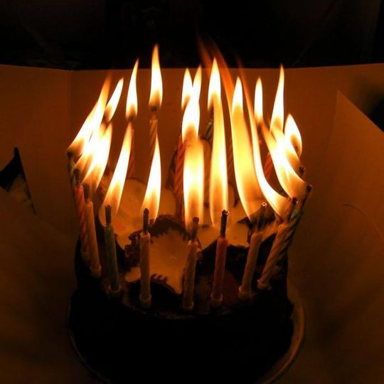 Незадуваемые свечи В зажженном виде
