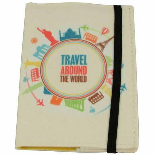 Обложка для паспорта Travel Around Фиксируется резинкой сверху