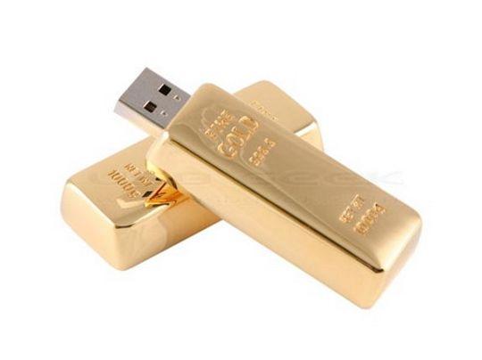 Флешка Слиток золота 4 Гб