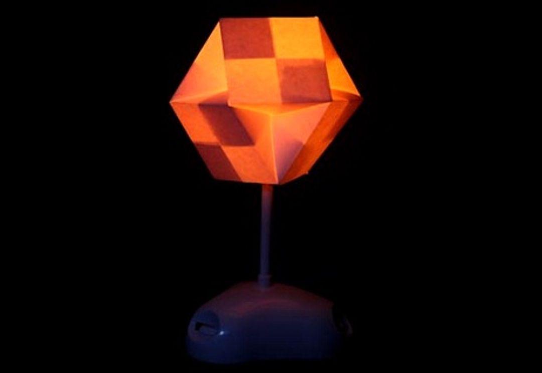 Светильник Конструктор Akari Абажур складывается из заготовок