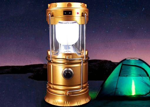 Кемпинговый фонарь-светильник с солнечной батареей