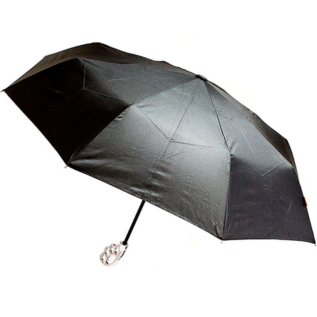 Зонт Кастет Fist Umbrella (Серебристая ручка) Открытый