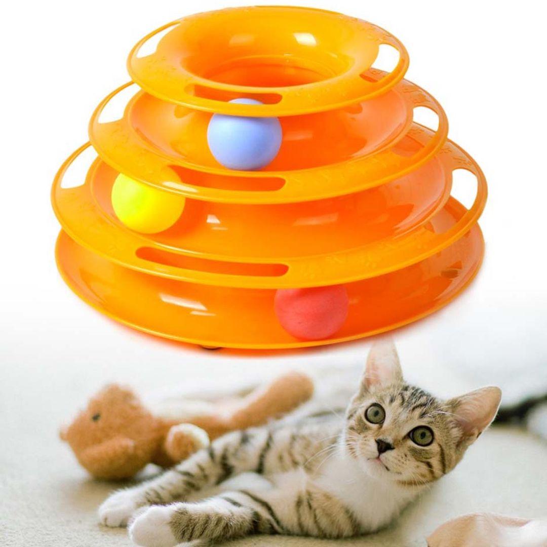 Трек с мячиками для кошек Tower of Tracks