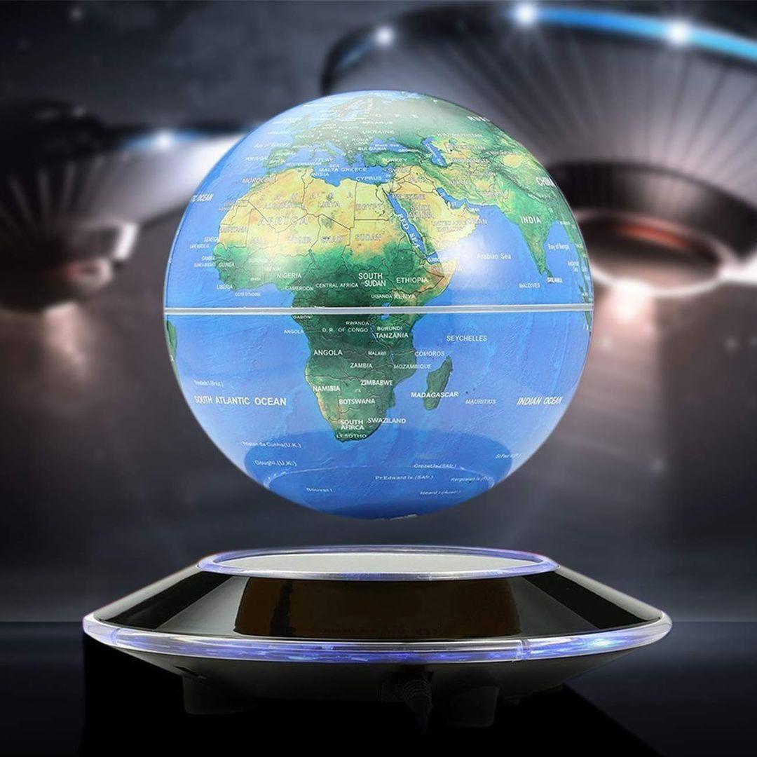 Настольный левитирующий глобус с подсветкой XXL