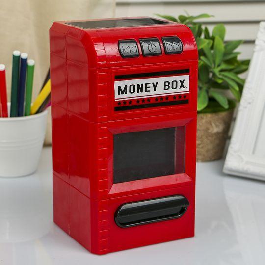 Копилка, разрезающая банкноты (Красный)