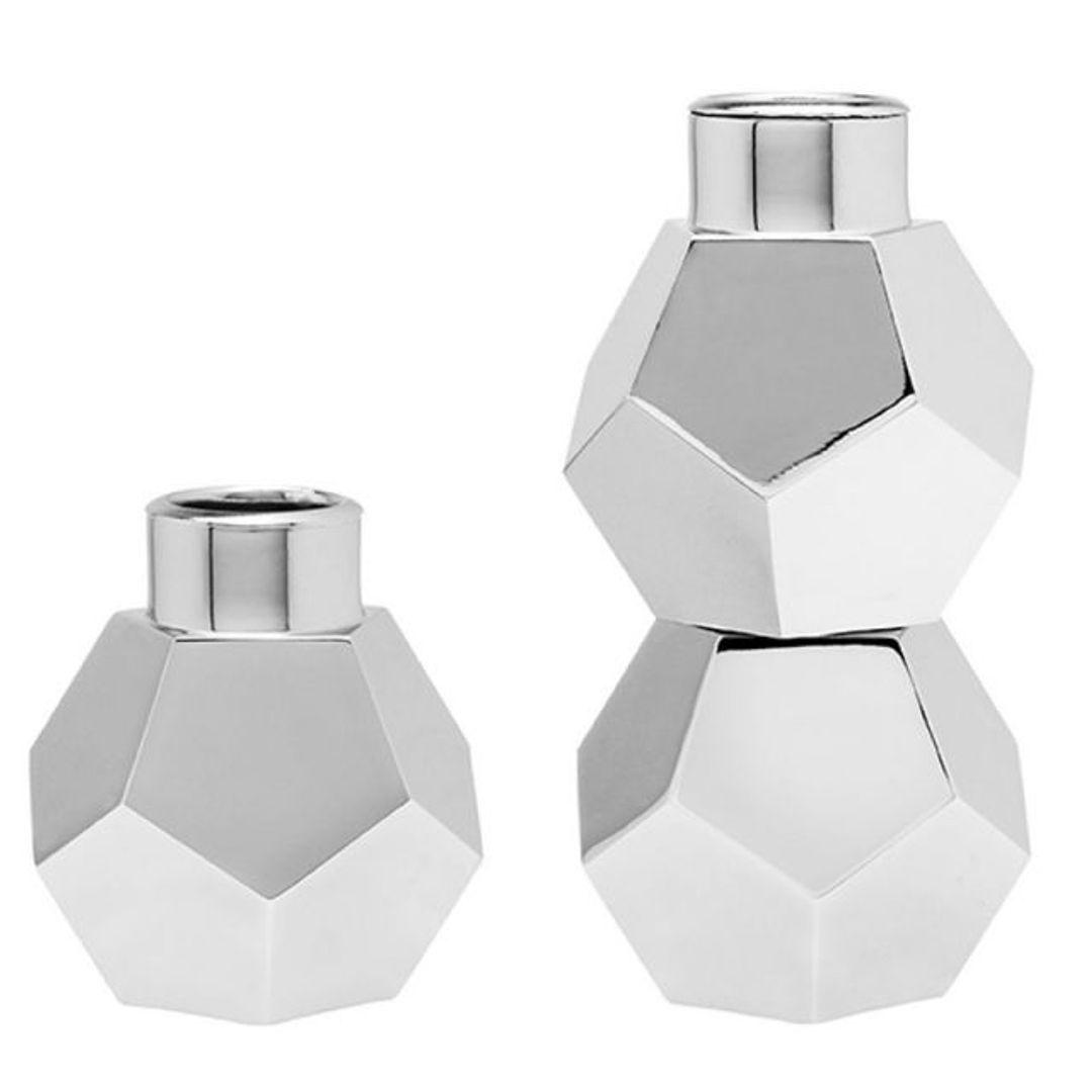 Подсвечники Geo (3 шт.) Два подсвечника из трех блоков