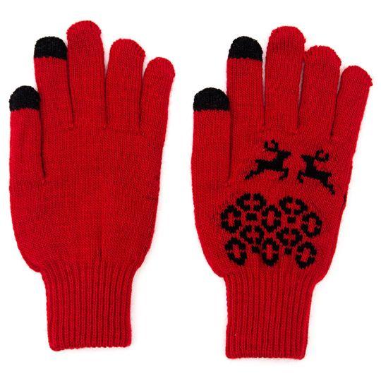 Перчатки для сенсорного экрана Рождественские петроглифы