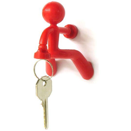 Держатель для ключей Магнитный человечек (Красный)