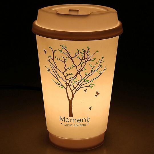 Светильник Стакан с кофе Дерево