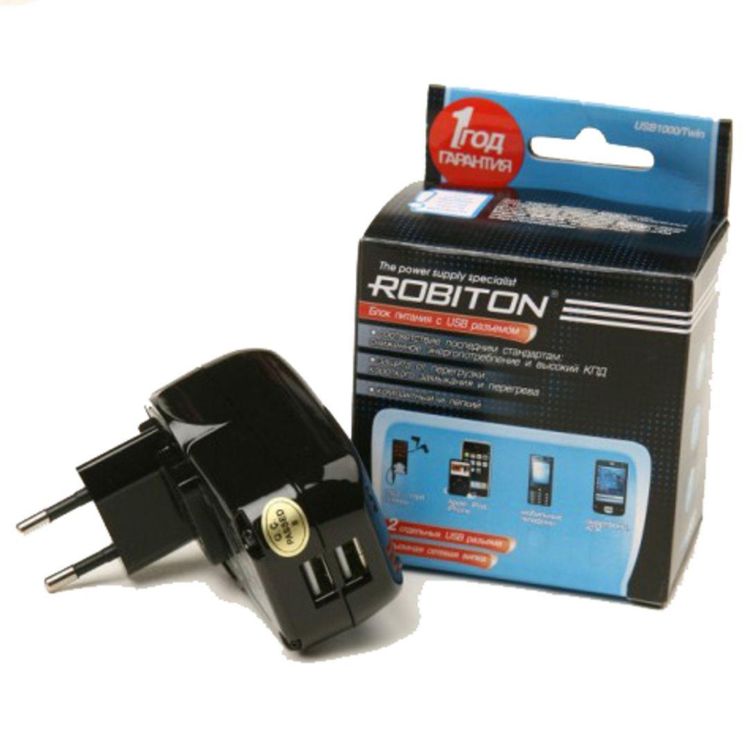 USB Сетевой адаптер 2 разъема Рядом с упаковкой