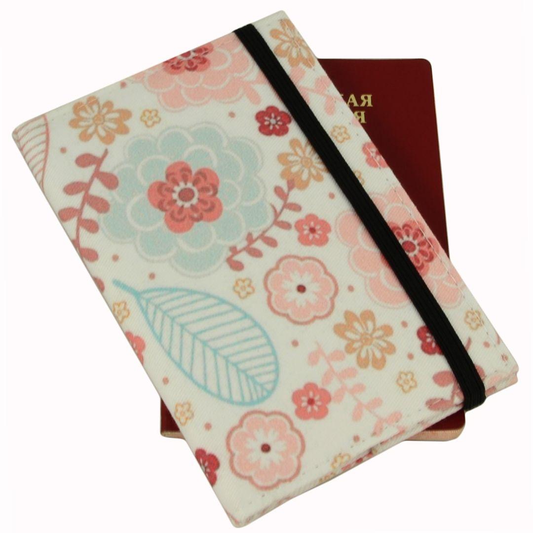 Обложка для паспорта White Purple