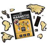 Магнитная Скретч-карта мира Travel Map Magnetic World
