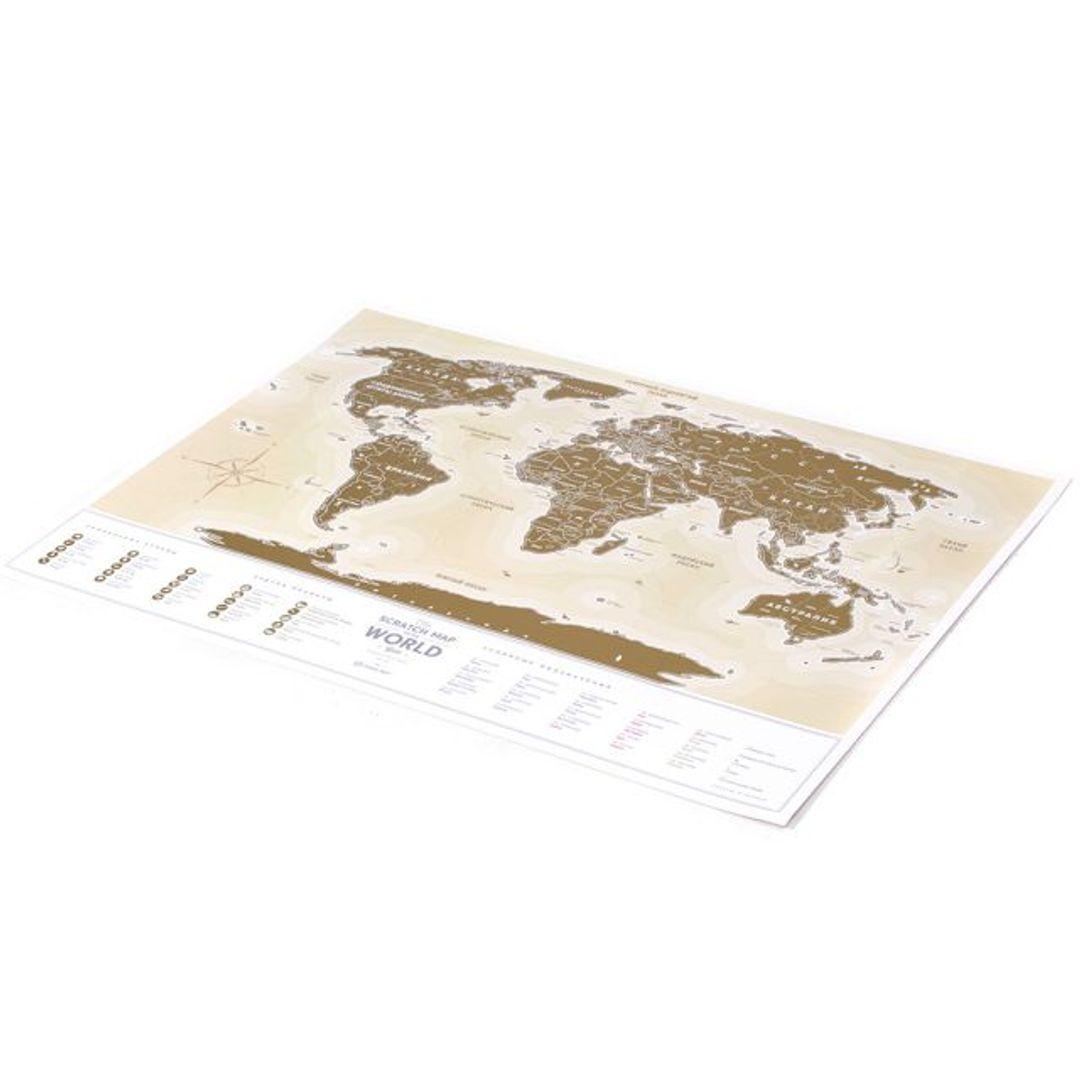 Скрэтч-карта мира Gold (на русском)