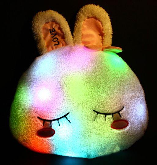 Светящаяся подушка Зайка