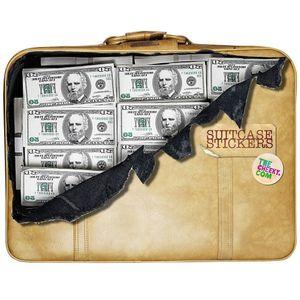 Наклейка на чемодан Баксы