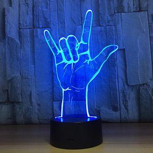 3D Лампа Рок Rock