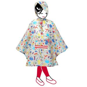 Дождевик Mini Maxi Poncho kids Circus Red
