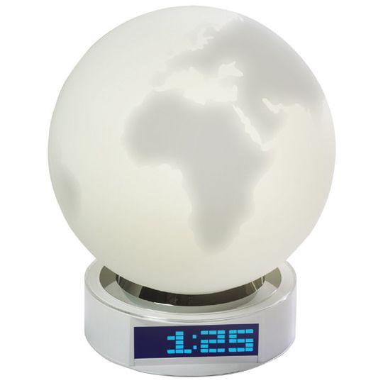 Часы-светильник Земной Шар
