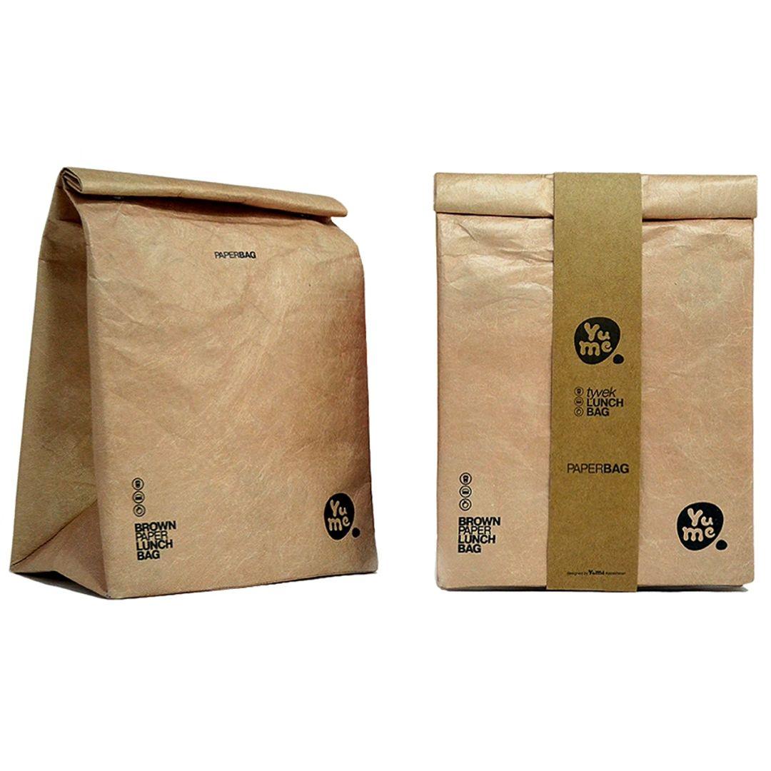 Термопакет для обеда YuMe Brown Paper Используемый и в упаковке