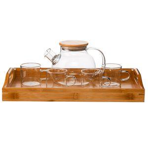 Чайный набор с подносом (1 л)
