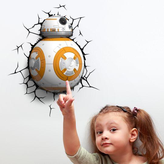 Пробивной 3D светильник Star Wars BB-8